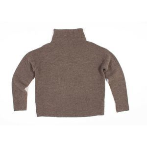 Madewell Southfield Mock Neck Sweater In Brown